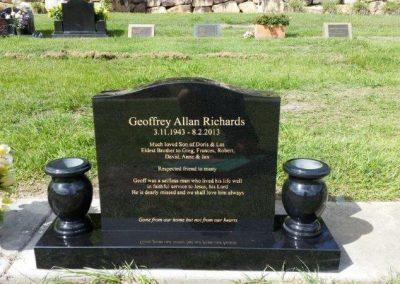 custom made granite headstones