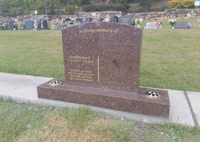 custom made granite headstones
