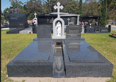 custom made granite gravestones